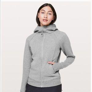 Lululemon sweater/Hoodie 8/10 light pink and gray.